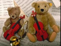 Teddy Bears with guitars